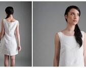 linen dress white