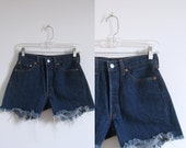 Denim Shorts / 1970s Levis Cutoffs / Vintage Levi's 501s (small S)