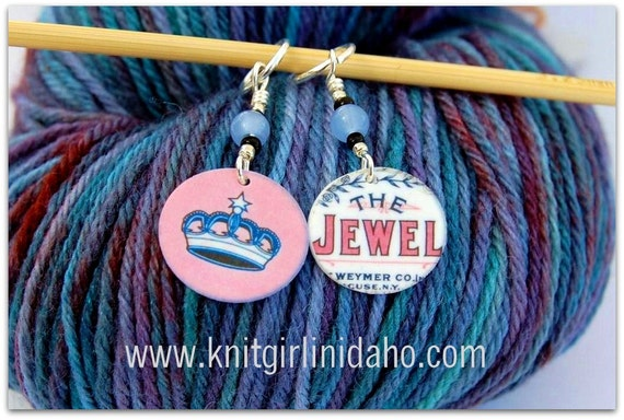 Crown Jewel Stitch Markers (Set of 2)