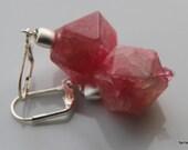 Light Pink  Agate Stone Dangle earrings