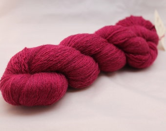 30% off STORE CLOSING SALE Reclaimed Purple Merino Yarn, Cobweb Lace Weight Yarn - 1078 Yards