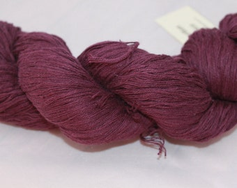 30% off STORE CLOSING SALE Purple Recycled Ramie Cotton Yarn, Worsted Yarn - 253 Yards
