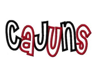 Cajuns 2 Color Embroidery Machine Applique Design 2769
