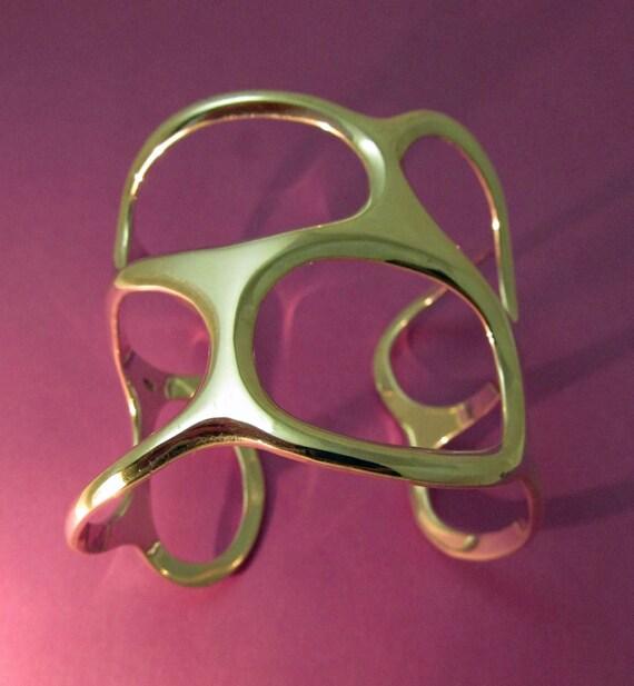 Silver Modernist Bracelet Cuff