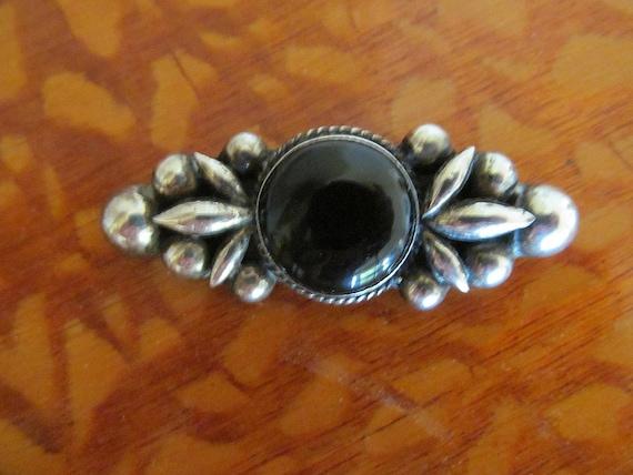 Mexican Silver Pin Repousse Pre Eagle