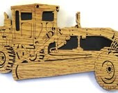 Heavy Equipment Road Grader scroll saw cut handmade--9tr