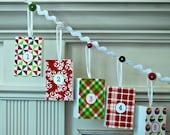 Advent Calendar garland mantle banner