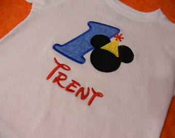 Mickey Mouse Personalized Birthday Shirt - Short Sleeve