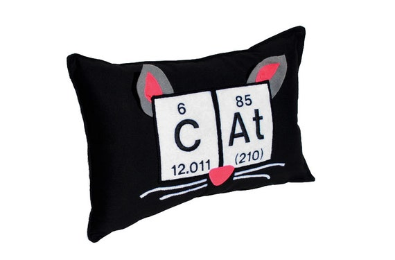 Periodic table cat pillow chemical elements ears nose and like this item urtaz Choice Image