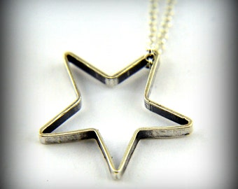 Two for One Sale....Sterling Silver Star Necklace