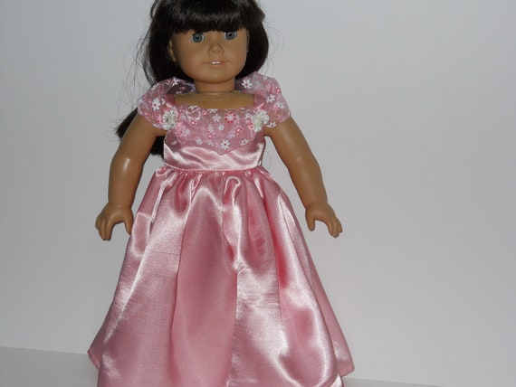 American Girl doll clothes , 18 inch doll clothes - Pink Party Dress