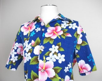 SALE! Vintage 60s Hawaiian Womens Shirt, Size M