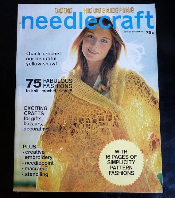 1971 Good Housekeeping Magazine Crochet, Knit, Embroider, macrame, stenciling, needlepoint patterns