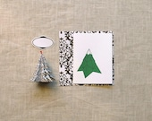Pine Tree Origami Stationery