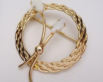Vintage ART signed 1/20 12k Gold Filled Opal Reed Pin