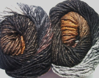 Noro Kureyon Wool Brown Black Grey Yarn Per Skein 321 Lot G