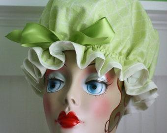 "Shower Cap Women's Waterproof Washable ""Spring Green"""