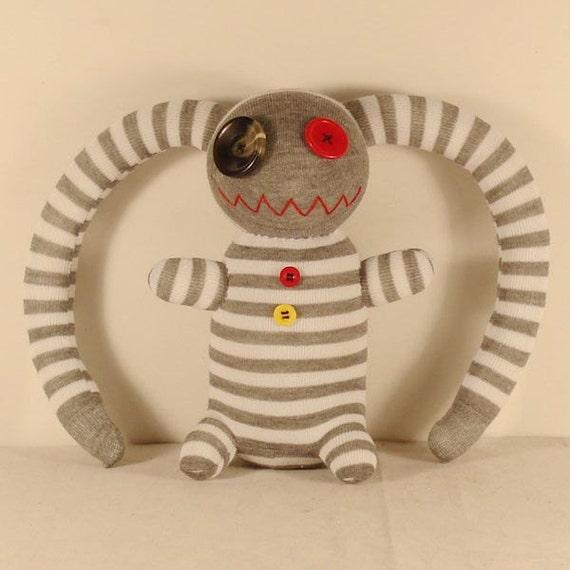 Free Shipping Handmade Sock Pirate Stuffed Animal Doll Baby Toys