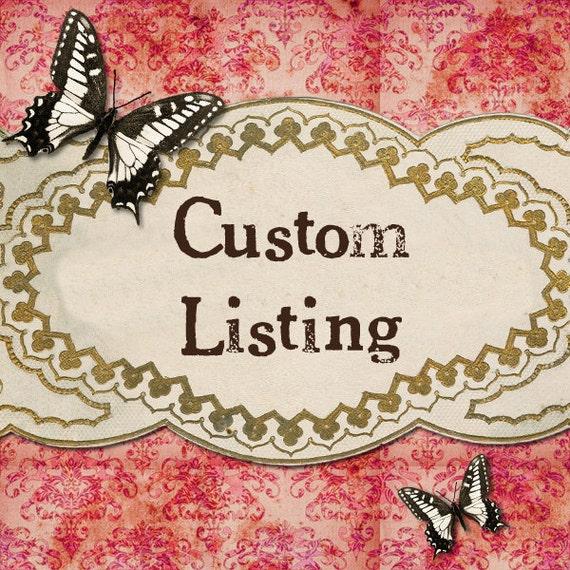 CUSTOM listing for Ammy