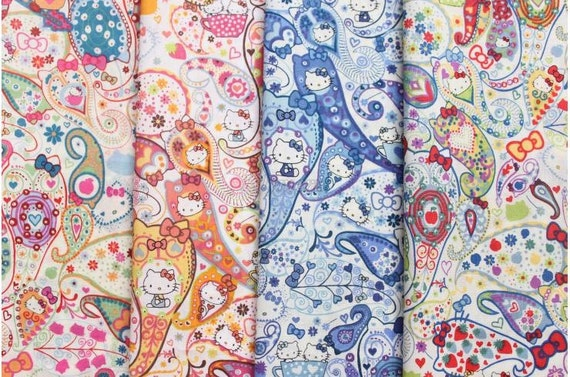 Small pieces of Liberty tana lawn printed in Japan - Hello Kitty - Mark