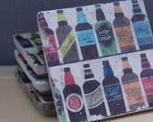 Beer Tumbled Marble Coasters