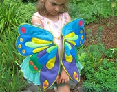 Queen of the Butterflies, Eric Carle Inspired Rainbow Wearable Wings for Children and Growing Caterpillars