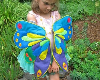 Queen of the Butterflies, Rainbow Wearable Wings for Children and Growing Caterpillars