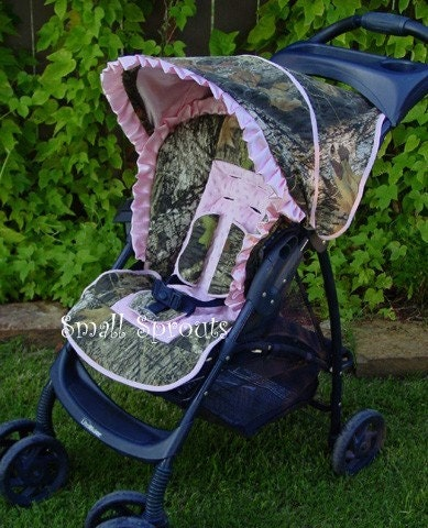 Custom Boutique Mossy Oak Breakup Or Real Tree Stroller Cover