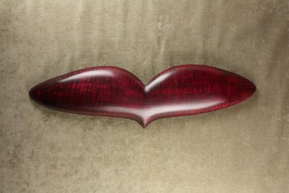 Personalized Heart Christmas Gift Red Wood Anniversary Gift Carving by Gary Burns the treewiz, Handmade Woodworking