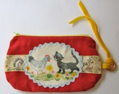 Paper Applique Clutch Purse