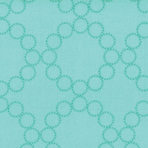 SUPER SALE......  Cherry Christmas from Aneela Hoey, Circle Wreath in Peppermint, 1 yard