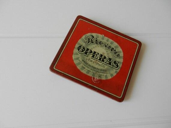 Vintage Ricoro Operas Tobacco Tin / 1920
