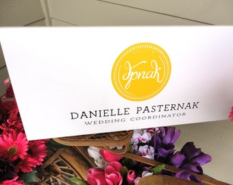Business Sign, Custom Business Advertisement Sign, Vendors, Weddings and Craft Shows.  10 X 24 inches.