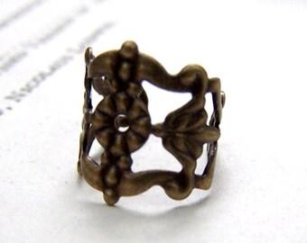 Filigree Ear Cuffs Antiqued Brass Ear Cuff Bronze Ear Cuffs