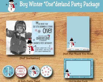 Winter Birthday Party Pack-Winter Onederland Party Package-First Birthday
