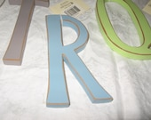 Fun Funky 6 inch Wood Painted Letters