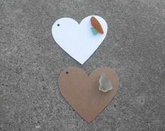 Heart Beach Glass Gift Tags Lake Erie