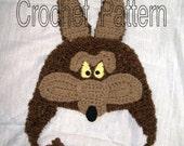 Little Coyote Hat Crochet Pattern PDF - INSTANT DOWNLOAD.