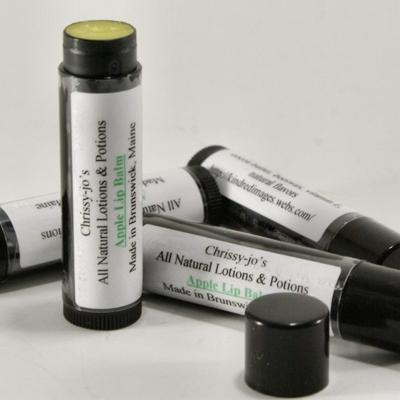 All Natural Moisturizing Apple Lip Balm with Cocoa Butter & Vitamin E