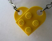 Bright Yellow Brick Necklace