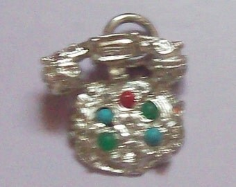 Rotary Telephone Sterling Silver Charm