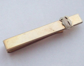 Initial H 14K Gold Filled Tie Clip