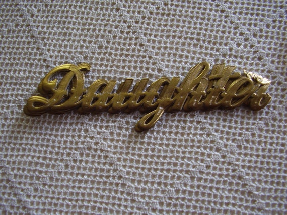 Vintage Stickers Daughter Gold Foil Gummed Labels 7 Pc.