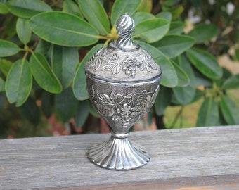 Pretty Decorative Vintage Glass Candy Dish