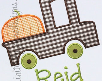Personalized Pumpkin Truck Shirt/Onesie, Perfect for Fall- Short or Long Sleeves Available