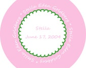 Customized melamine plate with name and birthdate-MANY OPTIONS
