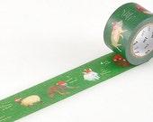 On Sale - MT 2012 Christmas Japanese Washi Masking Tape - Animal Santas