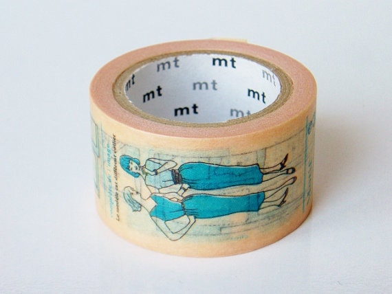 Limited Edition mt Japanese Washi Masking Tape-Sewing Pattern 25mm for card making, gift wrapping, scrapbooking
