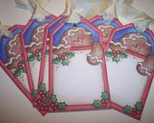 Ginger Bread Man Christmas Tags set of 6