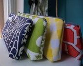set of four bridesmaid clutches